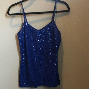 Blue Sparkle Tank Top